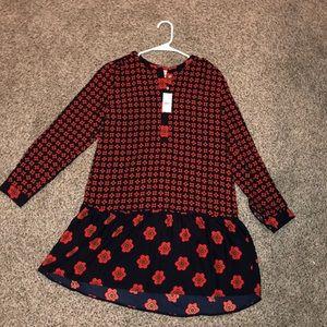 Women's mixed print tunic dress